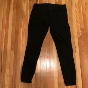 stretchy tapered black ankle pants as 29